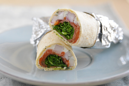Wrap au saumon et crudit s yoplait - Wrap apero dinatoire ...